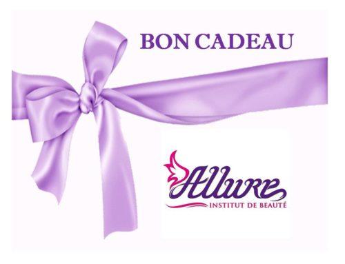 Bon cadeau plaisir à l'institut de beauté Allure à la Valette du Var….