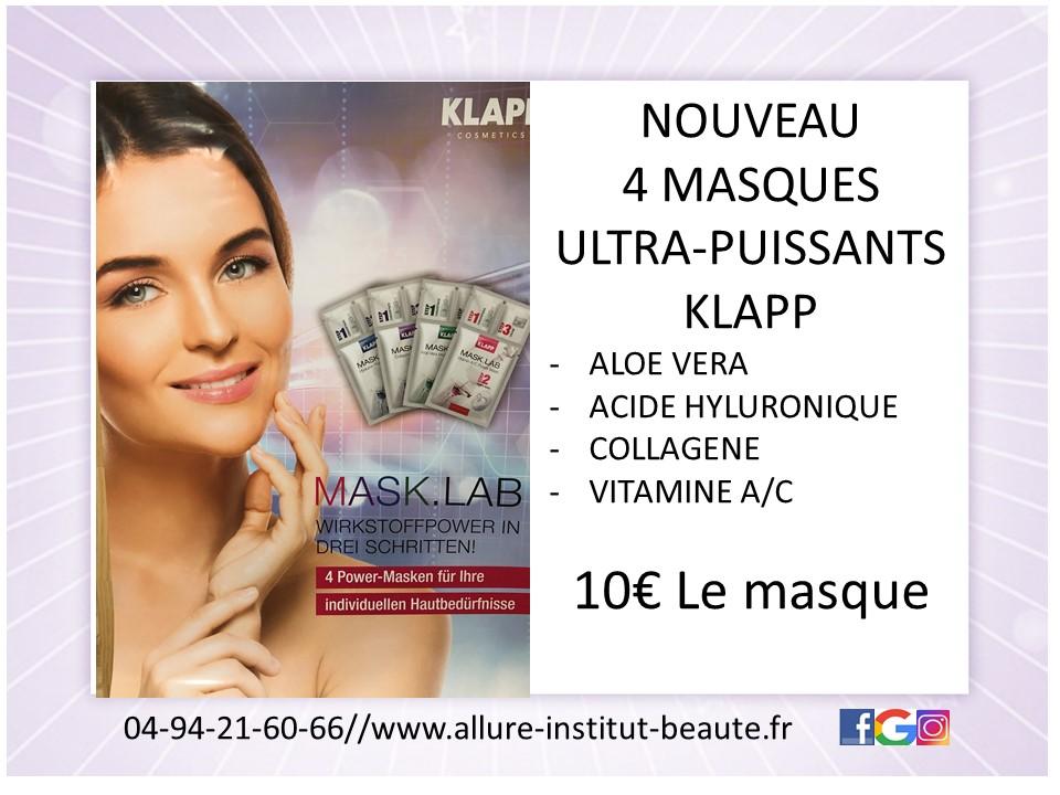 Masque beauté institut offre spéciale La Valette du Var